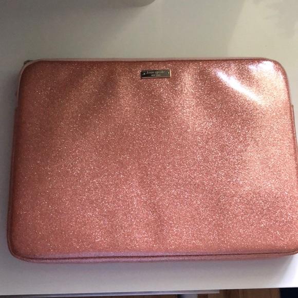 "timeless design e87c0 3dacf kate spade 13"" laptop case rose gold sparkle"